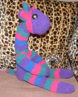 Jewel Tone Sock Giraffe by Eliea