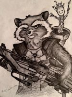 Rocket and Groot by 7Lisa