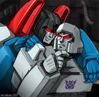 Starscream and Megatron by piyo119