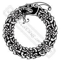 Celtic Ouroboros Tattoo design by TheeIceFaerie