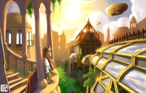 Steampunk City by Kekel