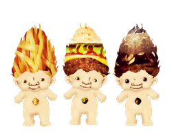 Junk Food Trolls- Mr Fry, Mc Burger and Dr Pepper by SugarHit