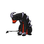 Houndoom free use animated pixel by Wolfvids
