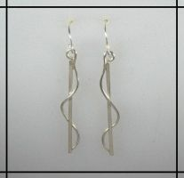 Silver Swirl Earrings by GipsonDiamondJeweler