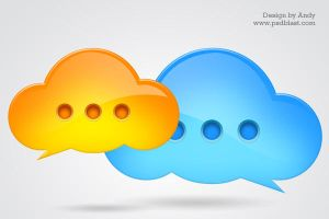 Chat icon PSD by psdblast