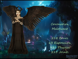 MMD Coronation Maleficent DL by 0-0-Alice-0-0