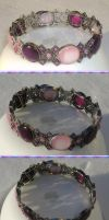 Pink and Purple Crown / Choker by Windthin
