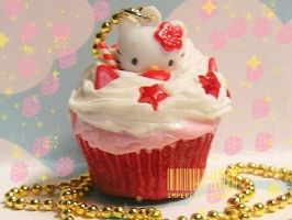 Hello Strawberry Cupcake Kitty by ImperfectKawaii