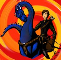 Eragon and Saphira by ElizaLento
