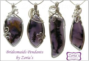 Pieces # 301-304 Bridesmaids Pendants by Zorias