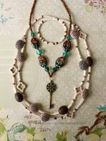 Bead Necklaces by joanniegoulet