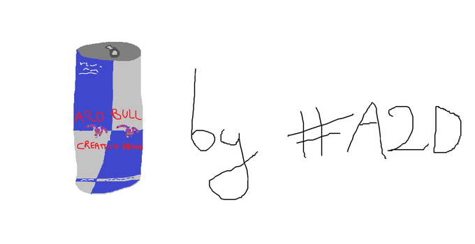 Art of the Day 22 : Redbull can by Addict2Draw