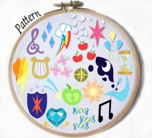 Cutie Mark cross stitch pattern YOU PICK by JuliefooDesigns