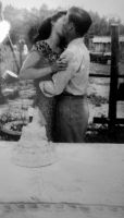 Wedding on the farm  1952 by Heidipickels