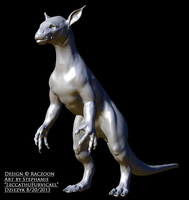 WIP Model 3D View- Raczoon's Critter by LeccathuFurvicael