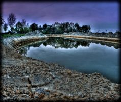 Small and Artificial lake HDR by MisterDedication