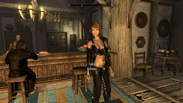 Alchana in skyrim by superhero2