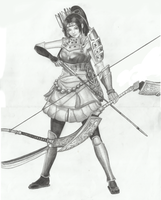 Samurai Warriors 3 - Ina by Lice-chan