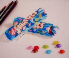 Smarties drawing by BarbieSpitzmuller