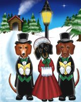 Dachshund Christmas by TestingPointDesign