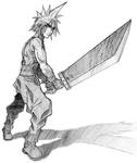 Cloud Strife (pencil sketch) by Sephiroth7734