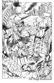 World War Hulk - Pencils by Chozenstudios