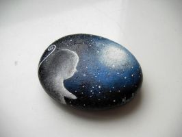 Moon Sprite Paper Weight by StaticSkies