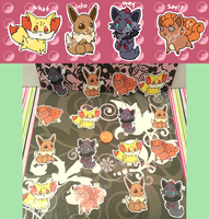 Fox Pokemon Stickers AVAILABLE **PRICE DROP** by Hawst-r