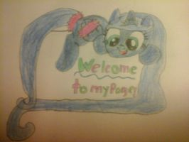 Welcome to my page Sign! by Meadow-Leaf