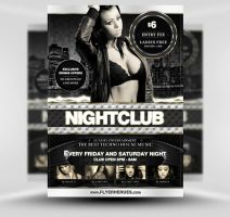 Luxury Nightclub Flyer Template PSD II by quickandeasy1