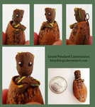 Groot Nut Pendant - Commission by Bittythings