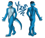 Y'zon reference sheet by DeJaBlu