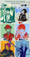 Gintama Colour scheme challenge! by Elilian