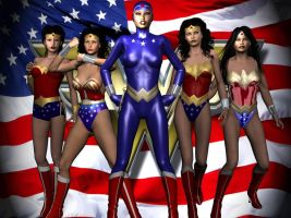 Wonder Women by Tuffers-Art