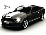 Shelby GT500 Black Wallpaper by REDWOOD3D