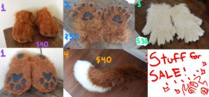 fursuit parts for sale REDUCED by AlieTheKitsune