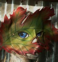 Autumn Maple Leaf Mask by faerywhere