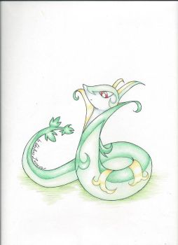 Serperior colored by shylavender