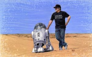 R2 and George by PENICKart