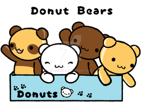 Donut Bears by Nashiil