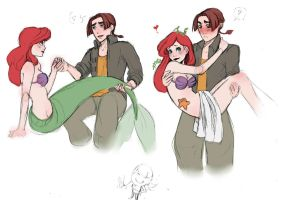 Ariel and Jim ! by Superhevey