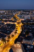 Nantes by night - Commerce by StrikeEagle15