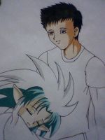 Tenchi and Ryoko-in progress by DREVTHAM