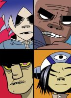Gorillaz by TheMagicPie