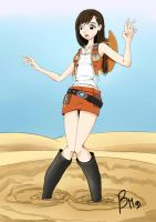 Requiest:Tifa on desert' trap by Forgelord91