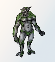 Stone Troll Concept Sketch by OnHolyServiceBound