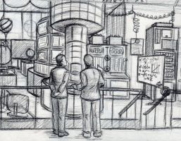 Dr. Selvig's Lab- Sketch by VanHinck