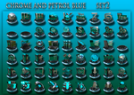 chrome and petrol blue set2 by xylomon