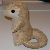 Plush - chibi Pangolin growing more scales by demiveemon