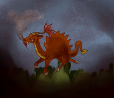 Fuolornis Fire Dragon by TheDraconicBard